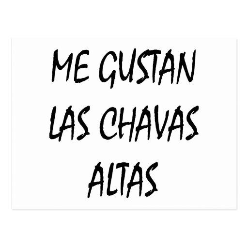 Yo Gustan Las Chavas Altas Postal