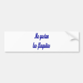 Yo Gustan Las Flaquitas Etiqueta De Parachoque