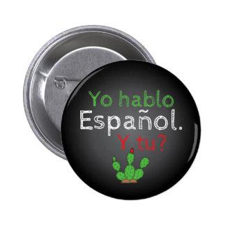 Yo Hablo Español Button Pin / Botón