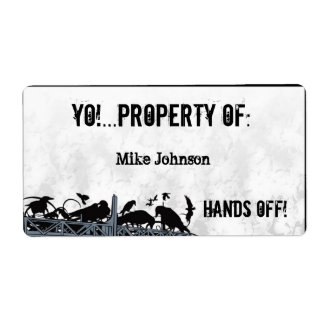 Yo! Hands Off! Shipping Label