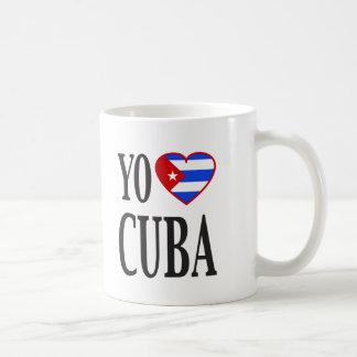 Yo Heart Cuba I Love Cuba with Cuban Flag Heart Coffee Mugs