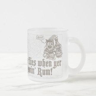 Yo Ho Ho Bottle of Pirate Rum Frosted Glass Coffee Mug