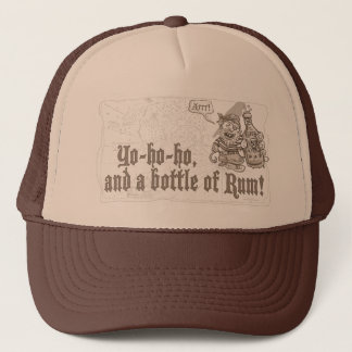 Yo Ho Ho Bottle of Pirate Rum Trucker Hat