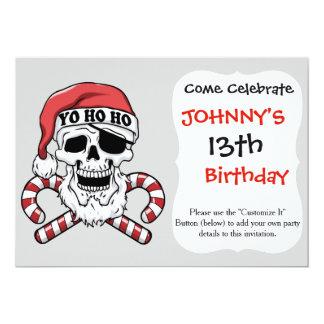Yo ho ho - pirate santa - funny santa claus card