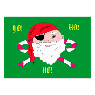 Yo Ho Ho Pirate Santa Gift Tags Business Card Template