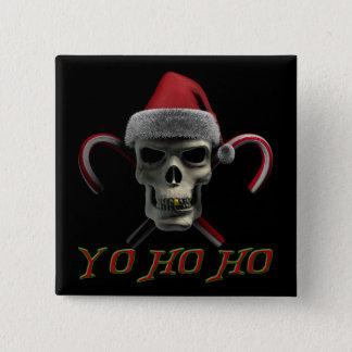 Yo Ho Ho Pirate Santa Pinback Button