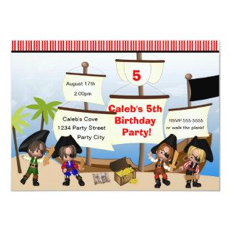 Yo Ho Ho Pirates & Ship Birthday Party Invitation
