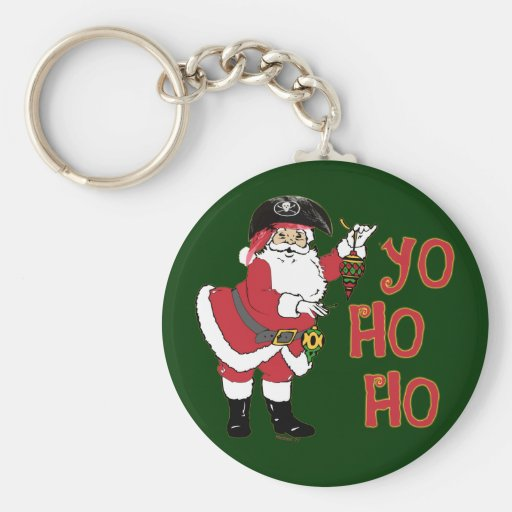 Yo Ho Ho Santa Keychain