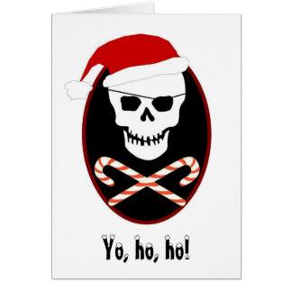 ¡Yo, ho, ho!  Tarjeta de Navidad