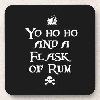 Yo ho ho y un frasco de ron, piratas posavaso