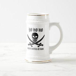 Yo Ho Ho y una botella de ron Stein Jarra De Cerveza