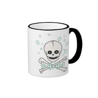 Yo Ho Skull Ringer Coffee Mug