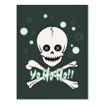Yo Ho Skull Post Card
