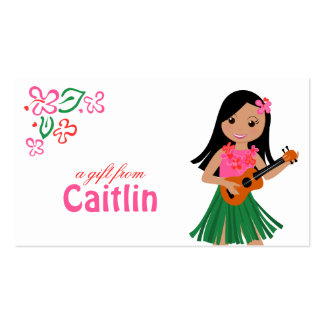 ¡Yo Hula-Amor usted ukulele! Tarjetas De Visita