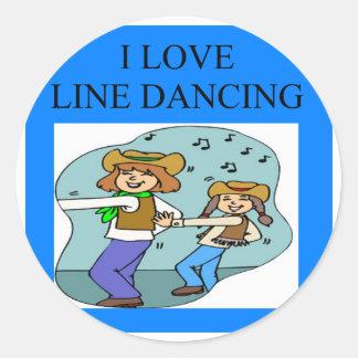 yo línea de amor baile etiquetas redondas