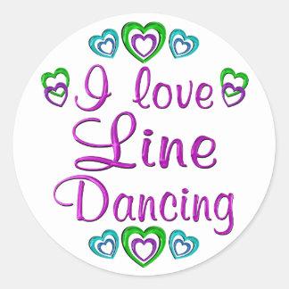 Yo línea de amor baile pegatinas redondas