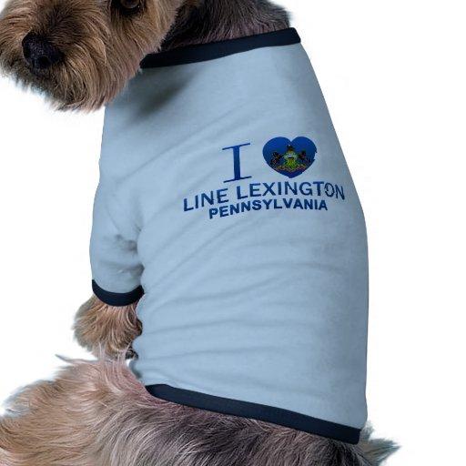 Yo línea de amor Lexington, PA Camiseta Con Mangas Para Perro