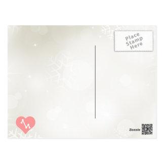 Yo línea icono de amor de los gráficos tarjeta postal