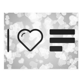 Yo líneas de amor postales
