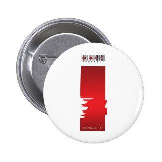 """yo"" logotipo pin redondo de 2 pulgadas"