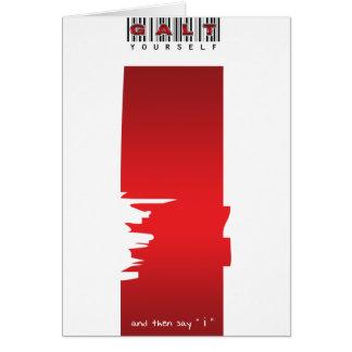 """""""yo"""" logotipo tarjeta de felicitación"""