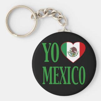 Yo Love Mexico (I love Mexico) with Flag Heart Keychain