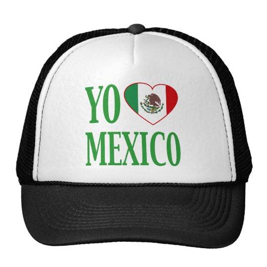 Yo Love Mexico (I love Mexico) with Flag Heart Trucker Hat