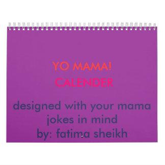 YO MAMA!, CALENDER, designed with your mama jok... Calendar
