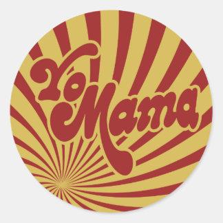 Yo Mama Classic Round Sticker