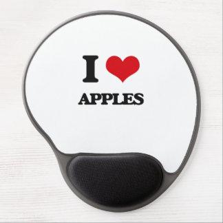 Yo manzanas de amor alfombrilla de raton con gel