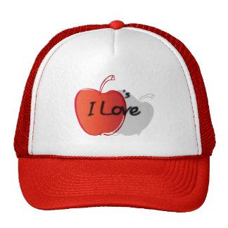 Yo manzanas de amor gorras de camionero