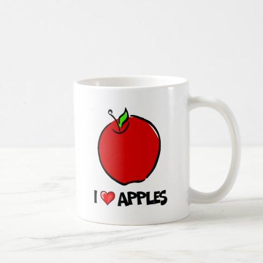 Yo manzanas de amor taza