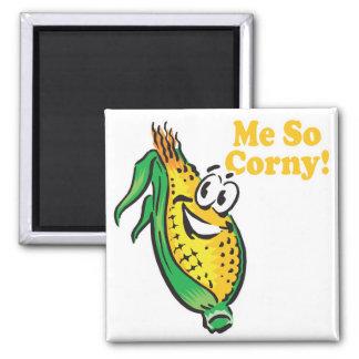 Yo mazorca de maíz TAN sensiblera Imán Cuadrado