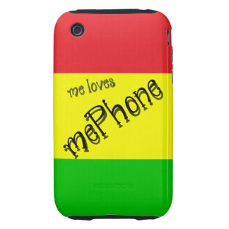 yo mePhone de los amores Tough iPhone 3 Protectores