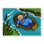 Yo Mo! Baby Moses Floating On The Nile Greeting Cards