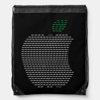 Yo mochila del lazo de Apple de amor