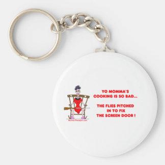 Yo Momma # 01 Basic Round Button Keychain