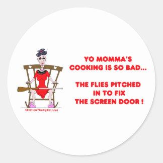Yo Momma # 01 Classic Round Sticker