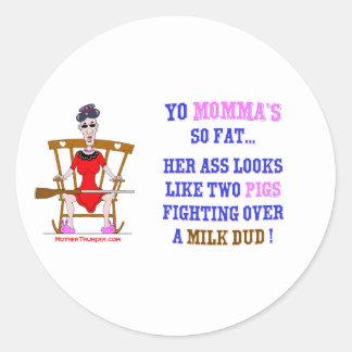 Yo Momma # 03 Classic Round Sticker