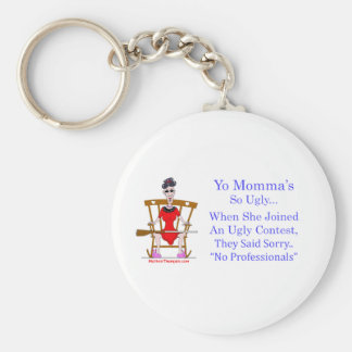 Yo Momma # 04 Basic Round Button Keychain