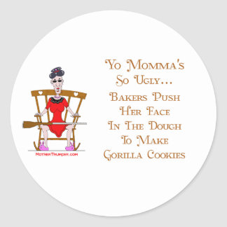 Yo Momma # 05 Classic Round Sticker