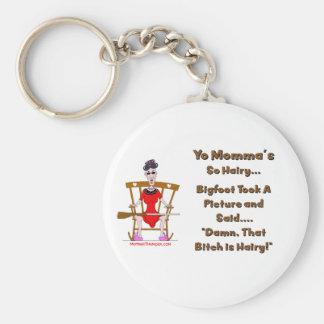 Yo Momma # 06 Basic Round Button Keychain