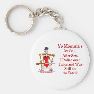 Yo Momma #07 Basic Round Button Keychain