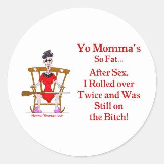 Yo Momma #07 Classic Round Sticker