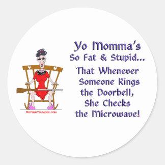 Yo Momma # 08 Classic Round Sticker