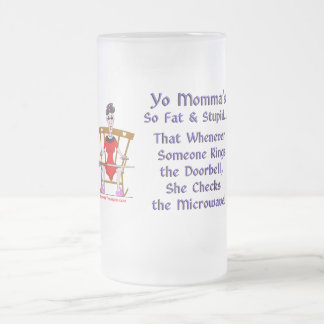 Yo Momma # 08 Frosted Glass Beer Mug
