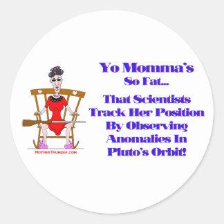 Yo Momma # 09 Classic Round Sticker