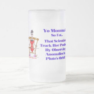Yo Momma # 09 Frosted Glass Beer Mug
