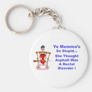 Yo Momma 10 Basic Round Button Keychain