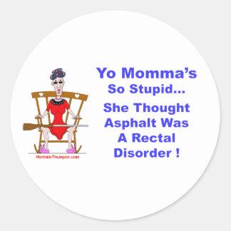 Yo Momma 10 Classic Round Sticker